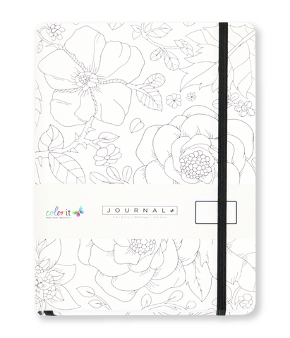 Fineline Flowers A5 Notebook Journal 320 Dot Grid Pages