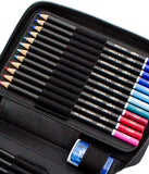 Premium 48 Colored Pencil Set With Case and Sharpener