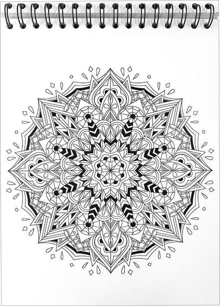 Mandala Coloring Book With Hardback Covers Spiral Binding Colorit