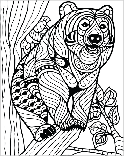 Wild Animals Coloring Book For Adults by ColorIt