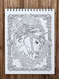 Majestic Horses Coloring Book for Adults Illustrated by Terbit Basuki