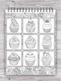 delicious desserts coloring book for adults colorit