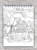 halloween treat design colorit desserts coloring book