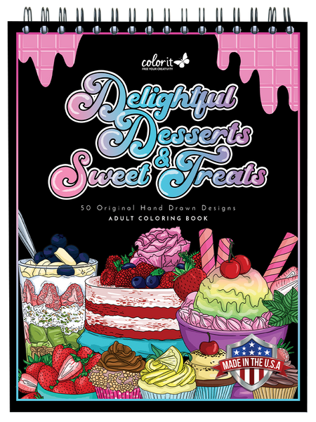 colorit delightful desserts and sweet treats coloring book for adults