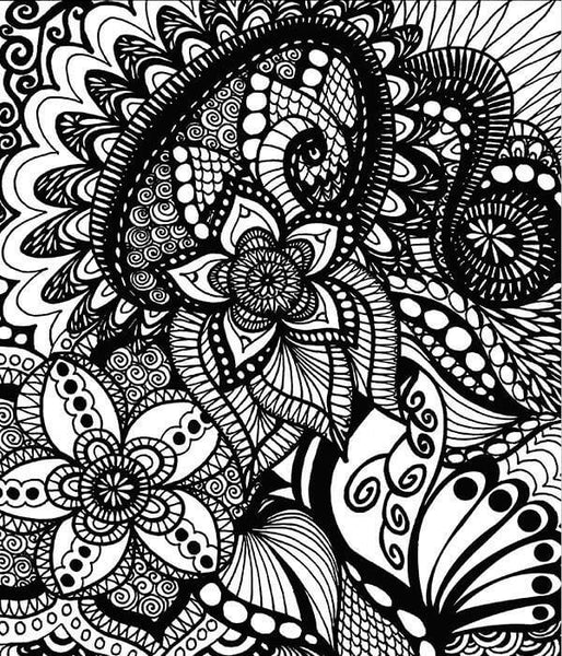 Doodle Coloring Book For Adults Calming Doodles Vol 1