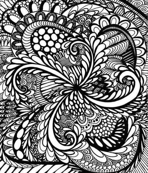 calming coloring pages for adults printable | Doodle Coloring Book For Adults - Calming Doodles Vol 1 ...