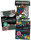 ColorIt Essential Variety Pack Doodles, Mandalas, Animals