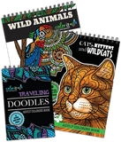 ColorIt Animal Variety Pack Animals, Cats, Traveling Doodles