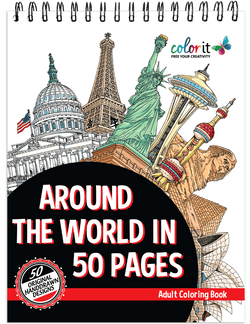 Around The World In 50 Pages Illustrated By Hasby Mubarok