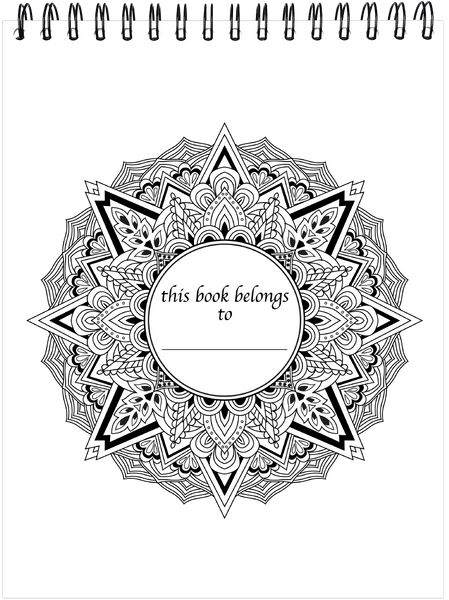 Mandala Coloring Book With Hardback Covers & Spiral Binding – ColorIt