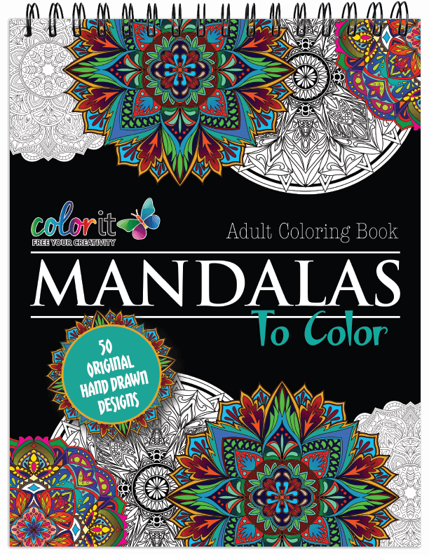 Mandalas To Color Volume 1 Illustrated by Terbit Basuki