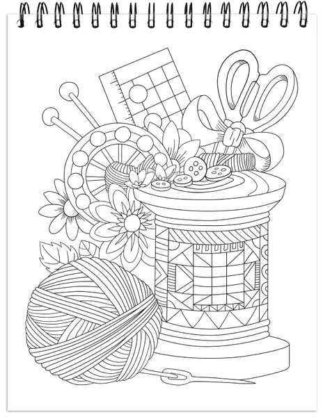 Quilts Coloring Book For Adults With Hardback Covers