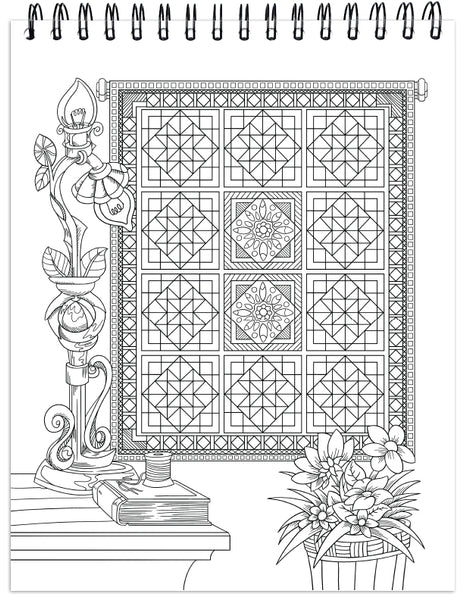 Quilts Coloring Book For Adults With Hardback Covers ...