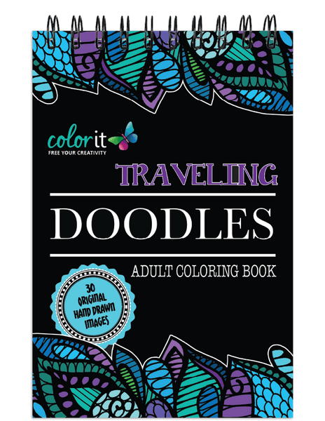 ColorIt Traveling Doodles Illustrated By Virginia Falkinburg
