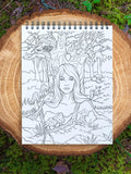 colorit fairies book for coloring tree fairy  nymph nature keeper