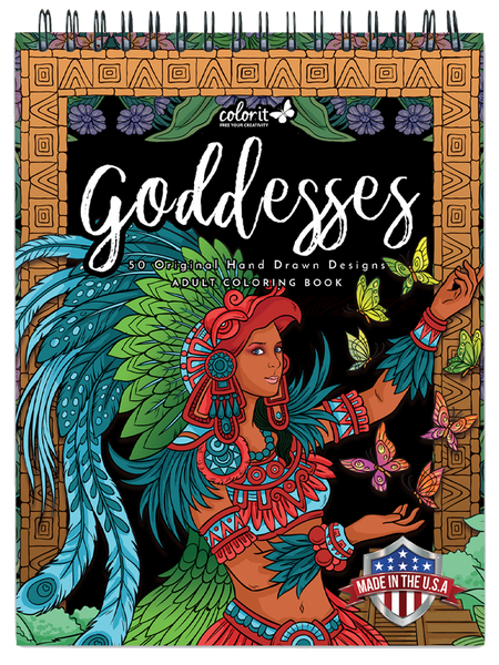Goddesses Adult Coloring Book By Hasby Mubarok – ColorIt
