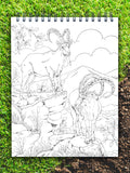 ColorIt jungle coloring book, wild animal coloring pages, african ibex drawing, in the jungle coloring pages, jungle book