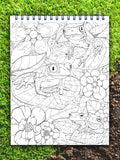 ColorIt Colors of the Jungle coloring book for adults, african tree frog coloring page, wild animals drawing, jungle coloring page