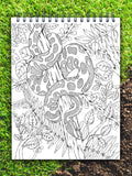ColorIt Colors of the Jungle coloring book for adults, ball python coloring page, jungle book,  jungle coloring pages