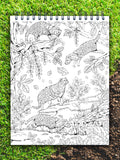 ColorIt Colors of the Jungle coloring book for adults, civet coloring page, animals coloring pages, jungle coloring page