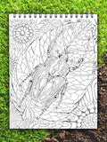 ColorIt Colors of the Jungle coloring book for adults, goliath beetle coloring page, jungle book, jungle coloring page