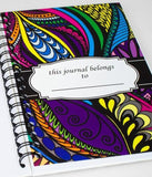 """Believe"" Colored Spiral Notebook Journal 200 Lightly Lined Pages"