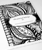 """My Journal"" Black and White Spiral Notebook Journal 200 Lightly Lined Pages"