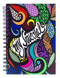 """My Journal"" Colored Spiral Notebook Journal 200 Lightly Lined Pages"