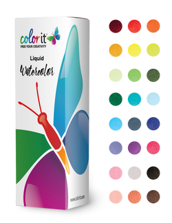 Liquid Watercolor Ink Refill for ColorIt Watercolor Brush Pens