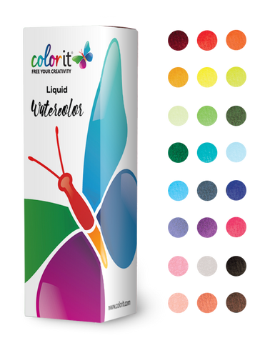 Liquid Watercolor Ink Refill for ColorIt Brush Pens