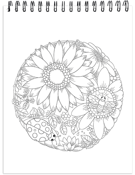 Nature Coloring Book For Adults With Hardback Covers & Spiral ...