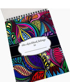 """Sketches"" Colored 9x12 Hardcover Spiral Sketchbook"