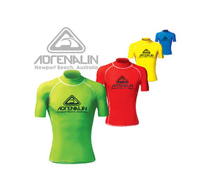 Adrenalin Adults Rash Vest Short Sleeve