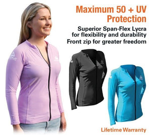 Adrenaline Ladies Zip Top Rash Vest