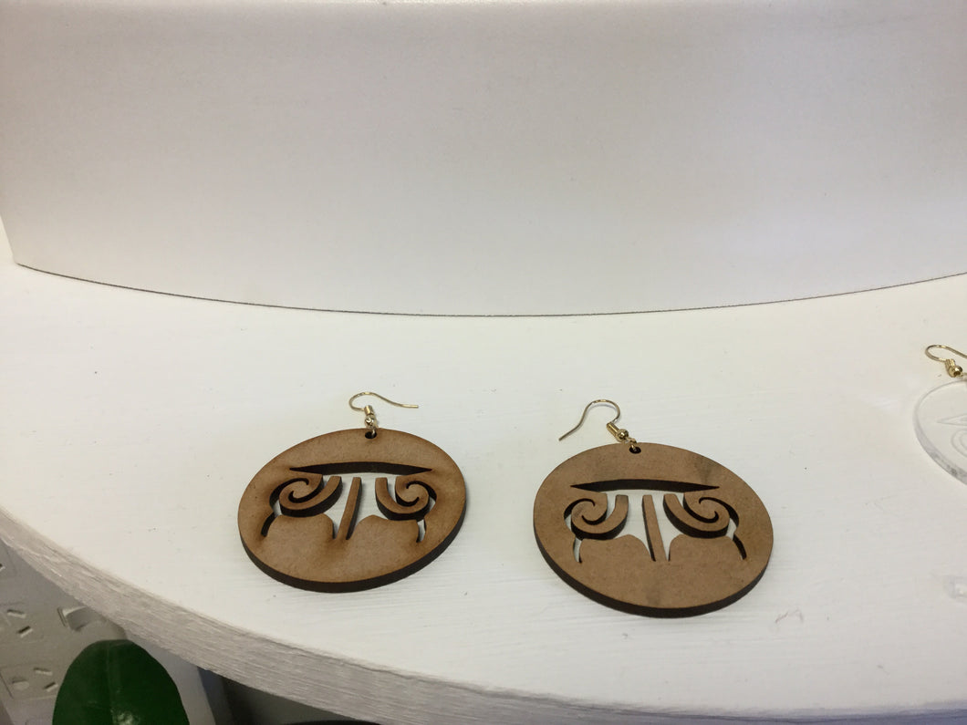Arohanoa Moko Earrings