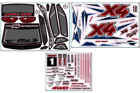 131200P0 - Rally X4 Decal Set