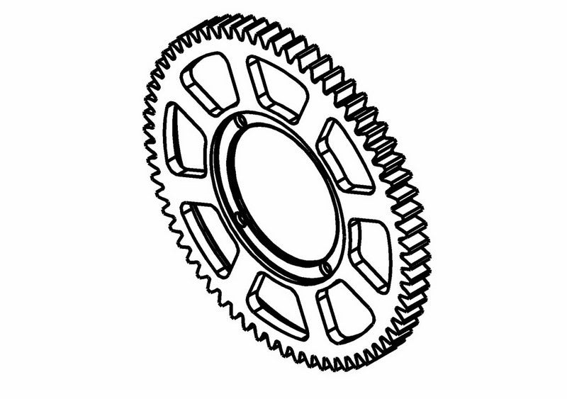 201301S - Center Spur Gear Z64
