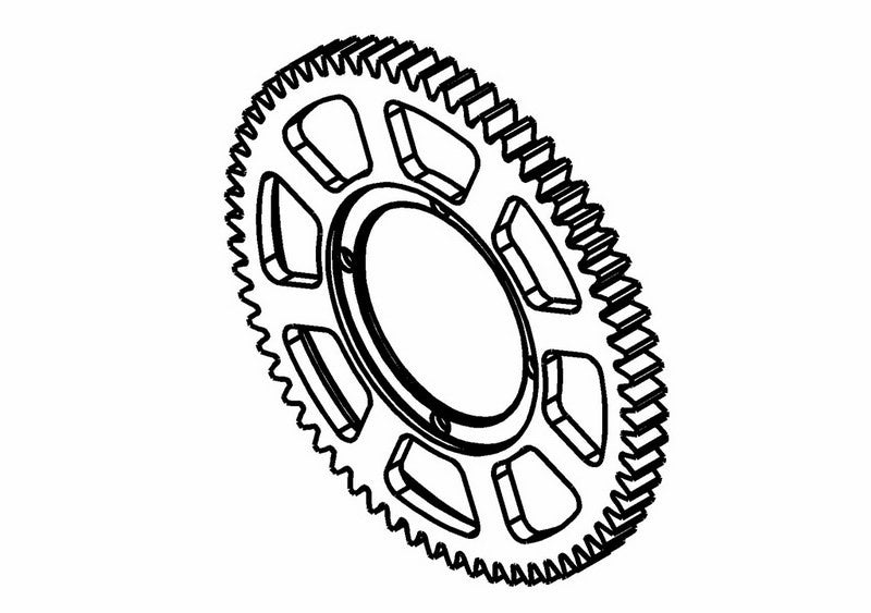 201302S - Center Spur Gear Z63 (Opt.)