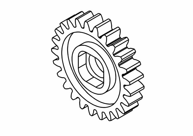 201408S - Clutch Bell Pinion Gear Z25 (Opt.)