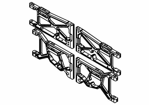 300107X - F/R Wishbone Alloy Set Complete (Opt.)