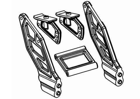 500401P - Buggy Rear Wing Mounts