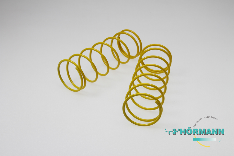 03/610 - Big-Bore shock absorber springs (ID = 33 mm, L = 105 mm) yellow