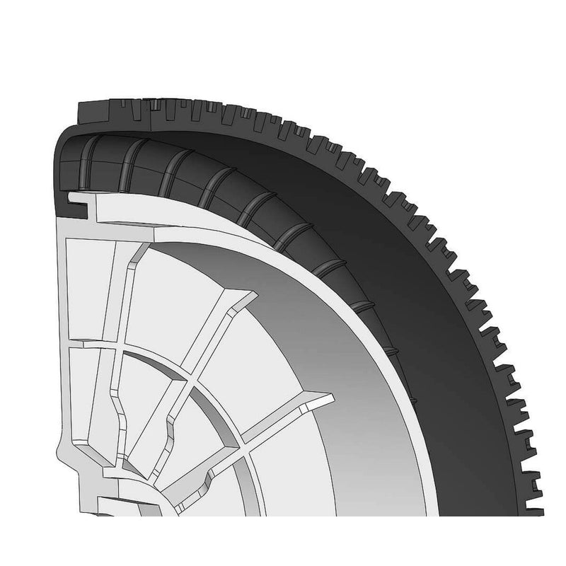100211X - Tyre 180 Mm Dirt-xross Bs + Wheel Black