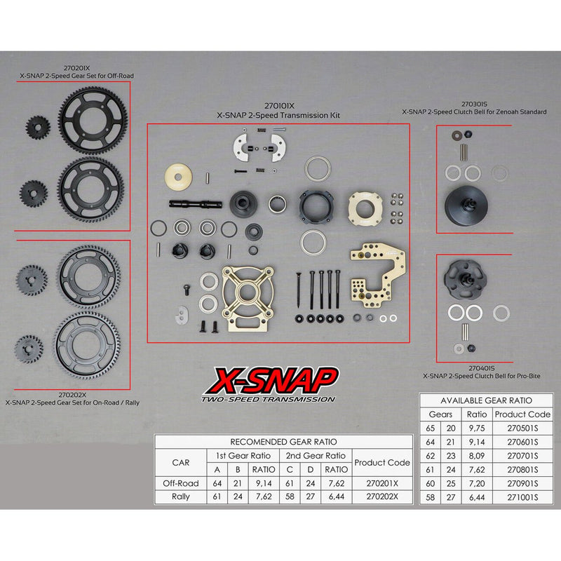270102X - X-snap 2-speed Transmision Kit Hfl1426
