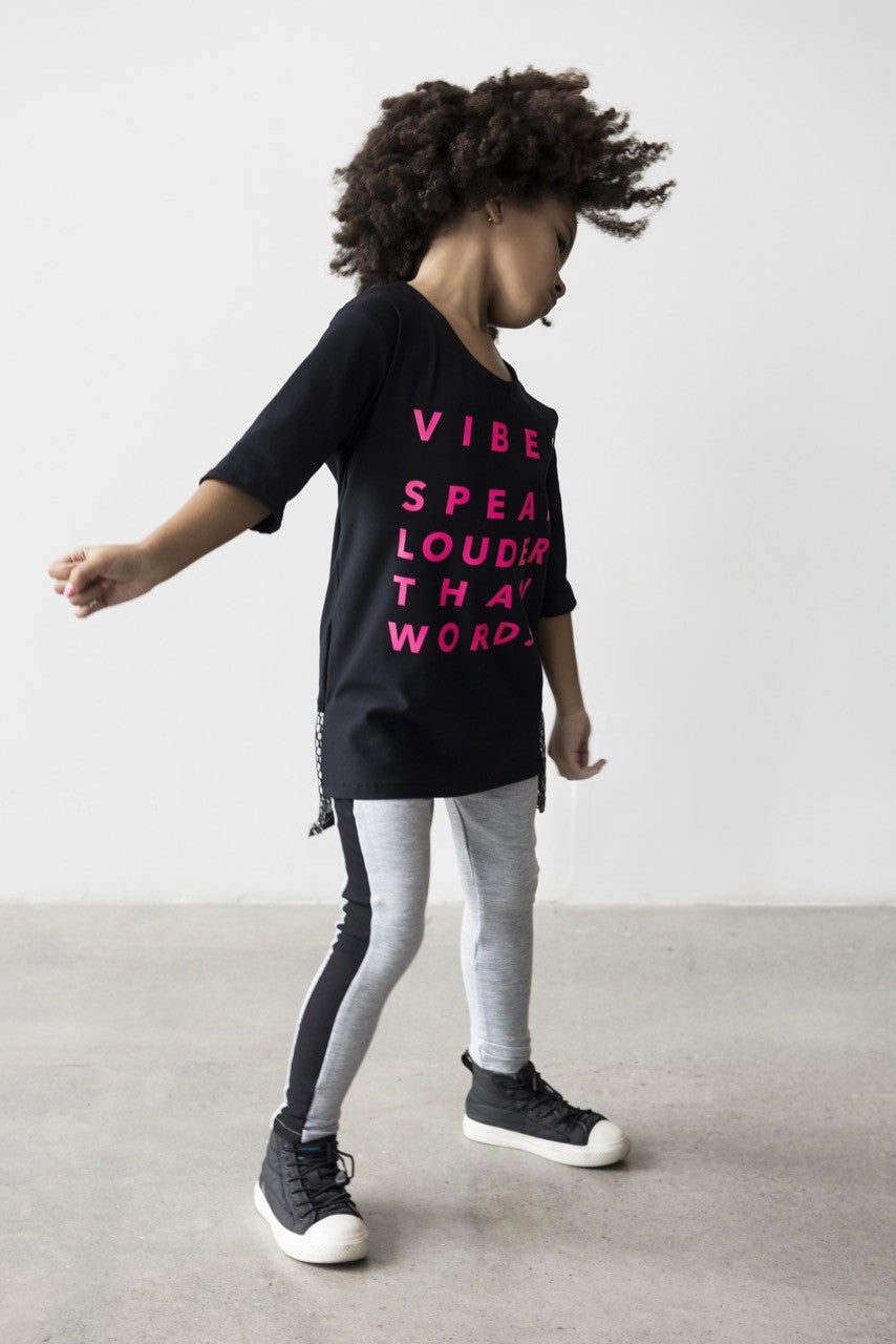 CHILD VIBES TOP WITH MESH BACK DETAIL