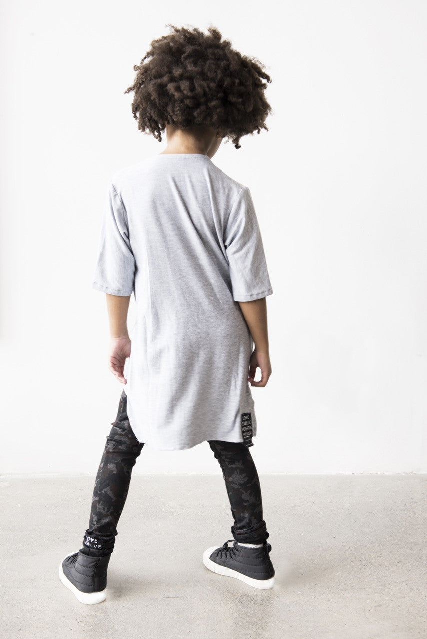 CHILD GREY ORGANIC BAMBOO VIBES TOP