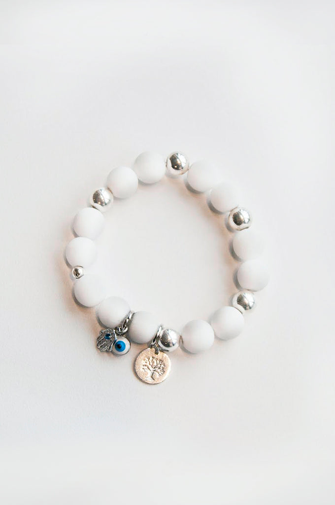 Evil Eye White Energy Bracelet