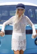 Bell Sleeved Lace Dress