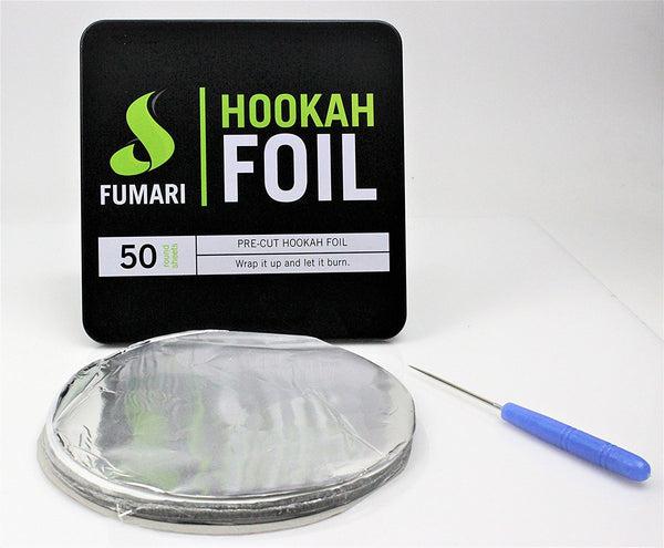 2X Fumari Pre-Cut Hookah Foil 50 pcs with Free Poker 100 PCS TOTAL