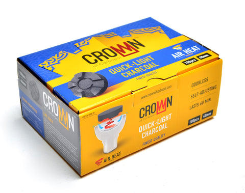Crown Hookah Charcoal 100pcs 40mm